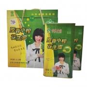 姬家花园2L*2铁盒原香小榨花生油,物理压榨,礼盒装